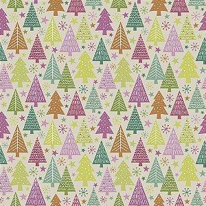 Tricoline Natal Candy Christmas 07, 100%Algod, 50cm x 1,50mt