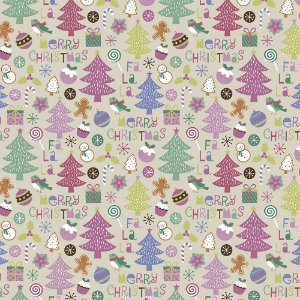 Tricoline Natal Candy Christmas 05, 100%Algod, 50cm x 1,50mt