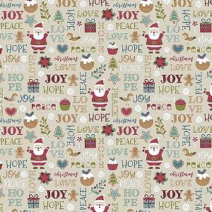 Tricoline Natal Candy Christmas 01, 100%Algod, 50cm x 1,50mt