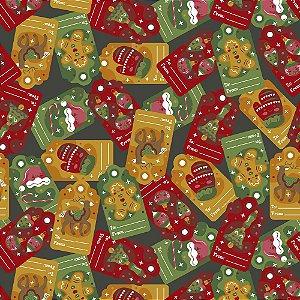 Tricoline Natal Original Christmas 06, 100%Alg, 50cm x 1,50m