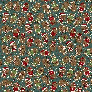 Tricoline Natal Original Christmas 05, 100%Alg, 50cm x 1,50m