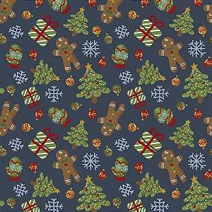 Tricoline Natal Original Christmas 02, 100%Alg, 50cm x 1,50m