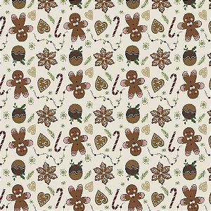 Tricoline Natal Original Christmas 01, 100%Alg, 50cm x 1,50m