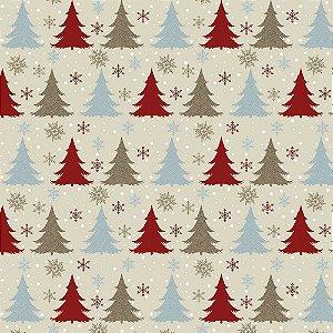 Tricoline Natal Winter Christmas 03, 100%Algod, 50cm x 1,50m