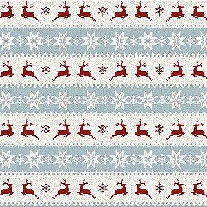 Tricoline Natal Winter Christmas 01, 100%Algod, 50cm x 1,50m