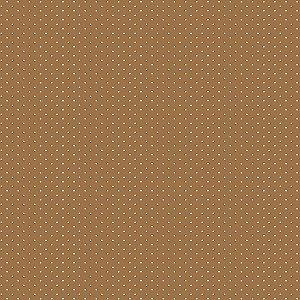 Tricoline Micro Poá Caramelo, 100% Algodão, 50cm x 1,50mt