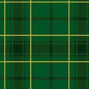 Tricoline Natal Xadrez F Verde, 100% Algodão 50cm x 1,50mt