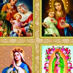 Tricoline Digital Religiosos 100% Algod, Unid. 49cm x 1,50mt