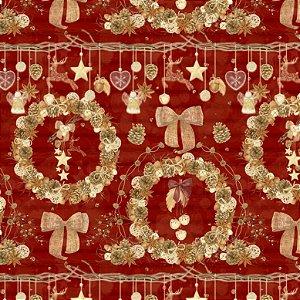 Tricoline Digital Natal Guirlanda F. Vermelho, 50cm x 1,50mt