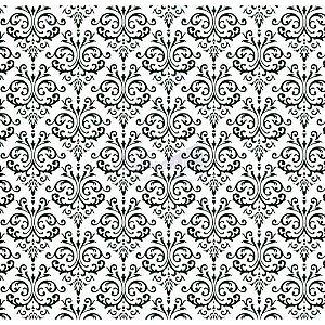 Tricoline Estampado Arabesco - Cor-07 (Branco com Preto), 100% Algodão, Unid. 50cm x 1,50mt