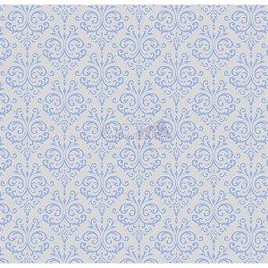 Tricoline Estampado Arabesco - Cor-04 (Azul com Cinza), 100% Algodão, Unid. 50cm x 1,50mt