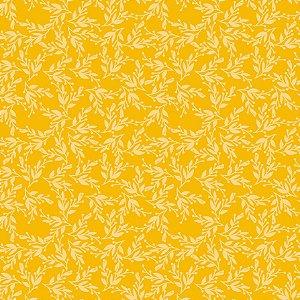 Tecido Tricoline Yellow Vine, 100% Algodão, 50cm x 1,50mt