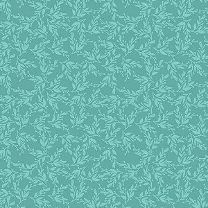 Tecido Tricoline Blue Vine, 100% Algodão, 50cm x 1,50mt