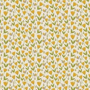 Tecido Tricoline Tiny Birds, 100% Algodão, 50cm x 1,50mt