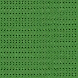Tricoline Poá Azul no Verde, 100% Algodão, 50cm x 1,50mt