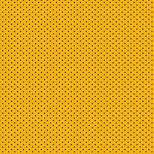 Tricoline Poá Azul no Amarelo, 100% Algodão, 50cm x 1,50mt