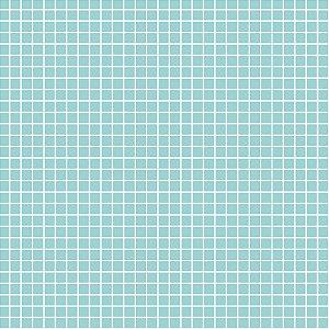 Tricoline Quadradinhos Acqua, 100% Algodão, 50cm x 1,50mt