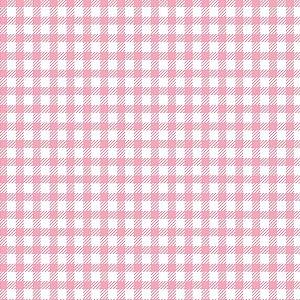 Tecido Tricoline Xadrez Rosa, 100% Algodão, 50cm x 1,50mt