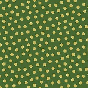 Tricoline Natal Poá Divertido Verde, 100%Alg, 50cm x 1,50mt
