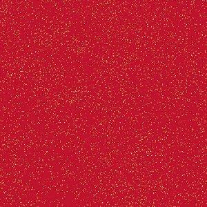 Tricoline Natal Estonado Vermelho, 100% Algod, 50cm x 1,50mt