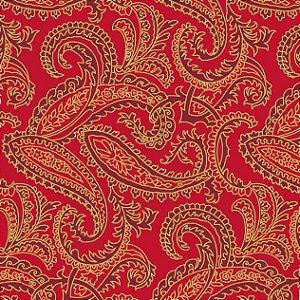 Tricoline Estampado Natal Vermelho, 100% Algod, 50cm x 1,50m