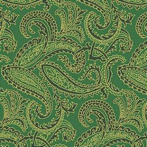 Tricoline Estampado Natal Verde, 100% Algod, 50cm x 1,50mt