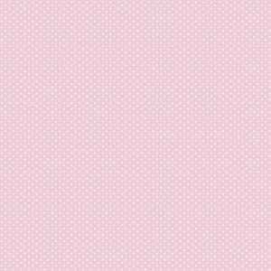 Tricoline Micro Poá Rosa Candy, 100% Algodão, 50cm x 1,50mt