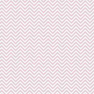 Tricoline Chevron Rosa Candy, 100% Algodão, 50cm x 1,50mt