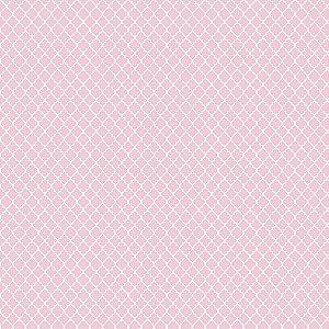 Tricoline Vitral Rosa Candy, 100% Algodão, 50cm x 1,50mt