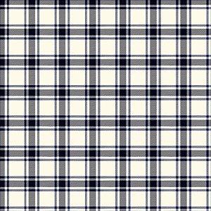 Tricoline Xadrez Perth Marinho 3, 100%Algodão, 50cm x 1,50mt