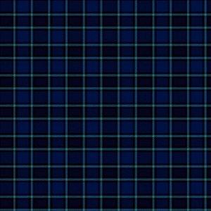 Tricoline Xadrez Edimburgo Marinho 1, 100%Alg, 50cm x 1,50mt