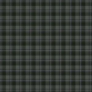 Tricoline Xadrez Glasgow Chumbo 2, 100% Algod, 50cm x 1,50mt