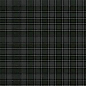 Tricoline Xadrez Edimburgo Chumbo 1, 100% Alg, 50cm x 1,50mt