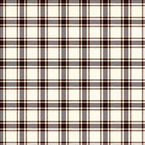 Tricoline Xadrez Perth Marrom 3, 100% Algodão, 50cm x 1,50mt