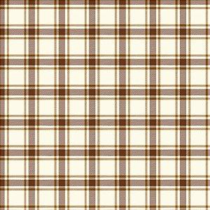 Tricoline Xadrez Perth Caramelo 3, 100% Alg, 50cm x 1,50mt