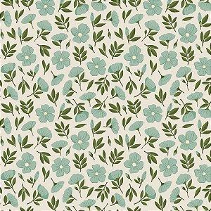 Tecido Tricoline Garden 3, 100% Algodão, 50cm x 1,50mt