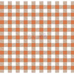 Tricoline Xadrez Smart (Laranja) , 100% Algodão, Unid. 50cm x 1,50mt
