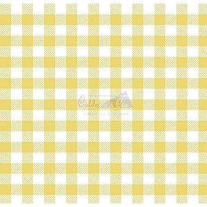 Tricoline Xadrez Smart (Amarelo) , 100% Algodão, Unid. 50cm x 1,50mt