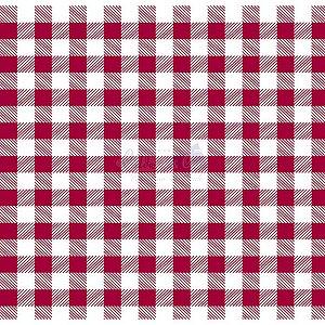 Tricoline Xadrez Smart (Vermelho) , 100% Algodão, Unid. 50cm x 1,50mt