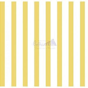 Tricoline Listrado Smart (Amarelo) , 100% Algodão, Unid. 50cm x 1,50mt