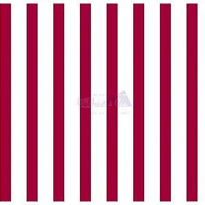Tricoline Listrado Smart (Vermelho) , 100% Algodão, Unid. 50cm x 1,50mt