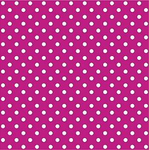 Tricoline Poá Pink ( Bolinha Média ) 100% Algodão unid 50cm X 1,50mt