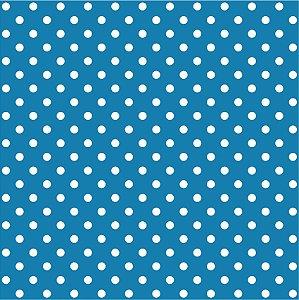 Tricoline Poá Médio Tiffany c/ Bolinha Branca 100% Algodão unid 50cm X 1,50mt