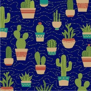 Tricoline Cactus Escuro, 100% Algodão, Unid. 50cm x 1,50mt