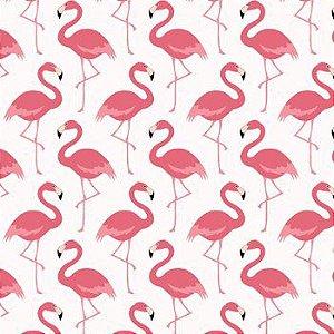 Tricoline Flamingo Claro, 100% Algodão, Unid. 50cm x 1,50mt