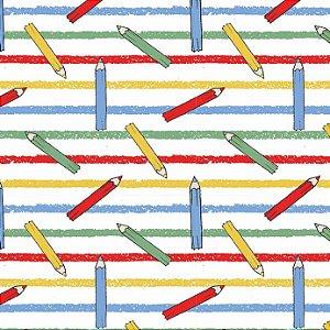 Tricoline Lápis de Cor, 100% Algodão, Unid. 50cm x 1,50mt