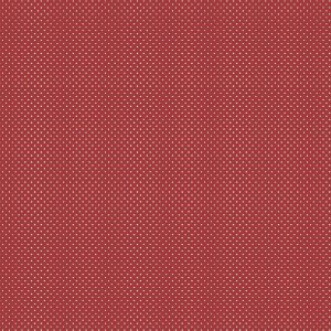 Tricoline Micro Poá Creme no Vermelho Love, 100% Algodão, Unid. 50cm x 1,50mt