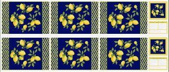 Tricoline Painel Limão Siciliano, 100% Algodão, Unid. 60cm x 1,50mt