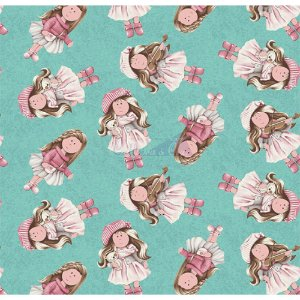 Tricoline Gigi Cor - 04 (Tiffany), 100% Algodão, Unid. 50cm x 1,50mt