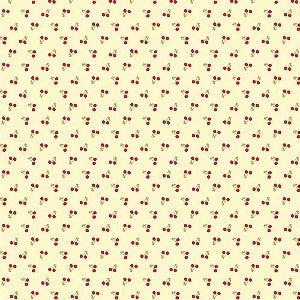 Tricoline Mini Cerejas, 100% Algodão, Unid. 50cm x 1,50mt